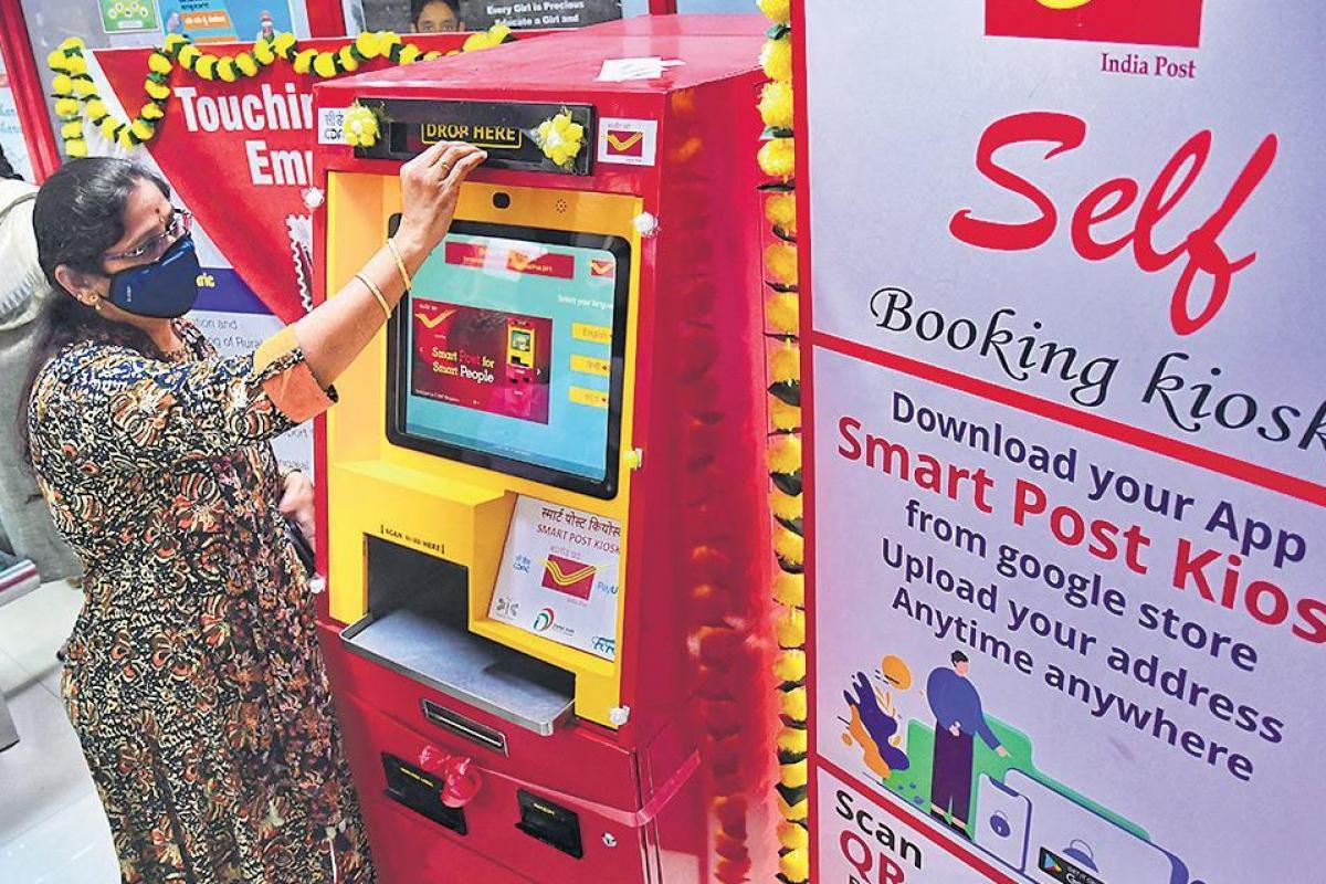 Online Post Office & Self Booking Kiosk at India Post